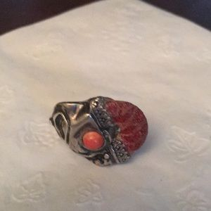 Jewelry - Sea coral and pink stone ring